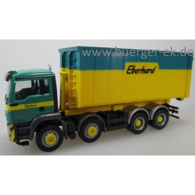 Herpa LKW MAN TG-S M E6 Abrollmulden-LKW Eberhard 940375